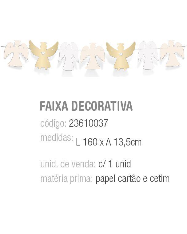 FAIXA DECORATIVA BATISMO PCT C/1 UNIDADE