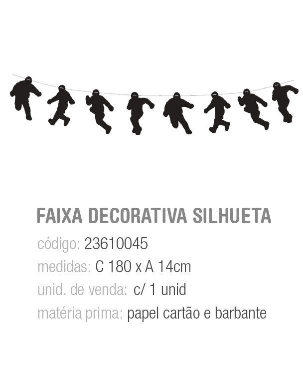 FAIXA DECORATIVA SILHUETA JOGADORES PCT C/1 UNIDADE