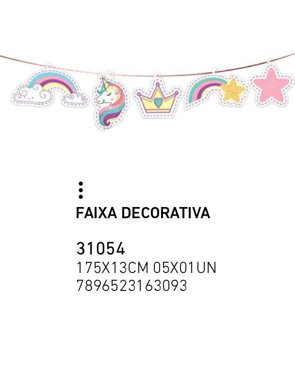 FAIXA DECORATIVA T UNICORNIO NOVO PCT C/1 UNIDADE