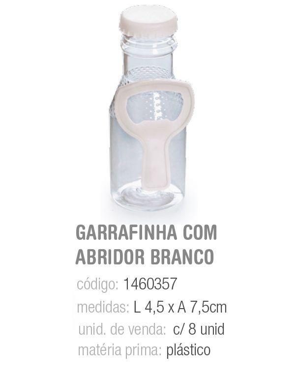 GARRAFA C/ABRIDOR BRANCO PCT C/8 UNIDADES