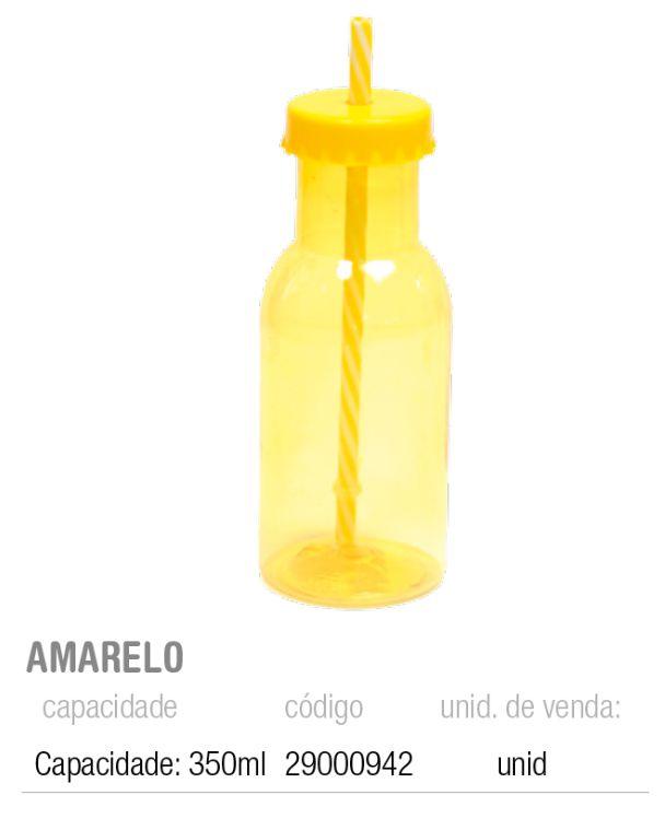 GARRAFINHA DE PLASTICO C/CANUDO AMARELO 6,5x20 PCT C/1 UNIDADE