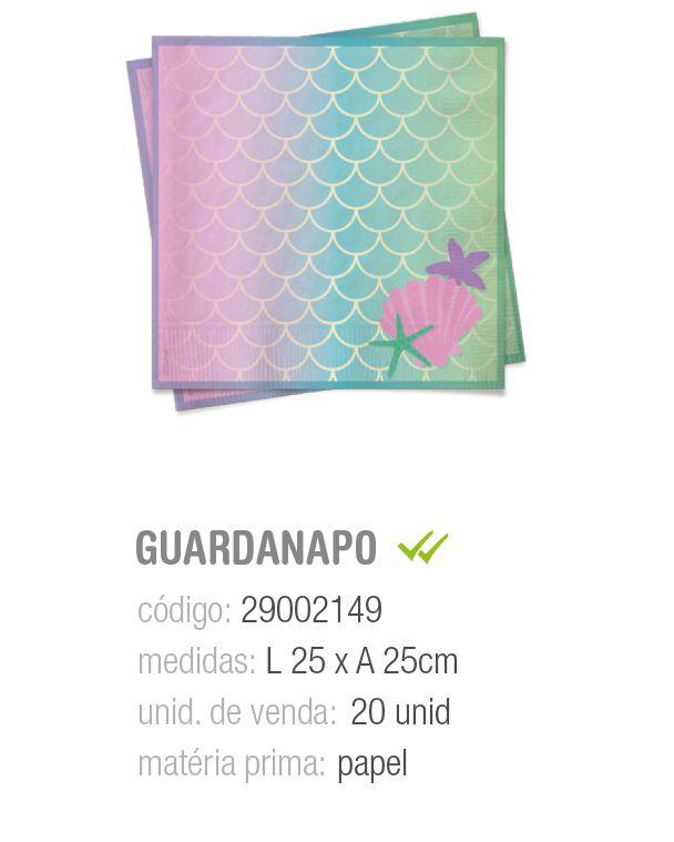 GUARDANAPO SEREIA 25x25 PCT C/20 UNIDADES