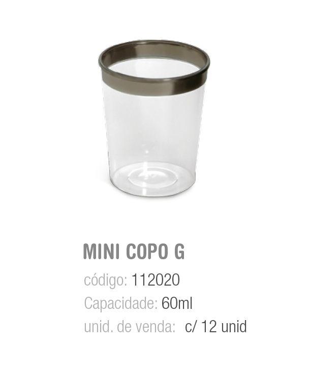 LINHA PREMIUM MINI COPO TRANSP 60ML PCT C/12 UNIDADES