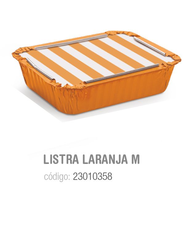 MARMITINHA LISTRAS LARANJA M 8,5x6,5x2,5 PCT C/12 UNIDADES