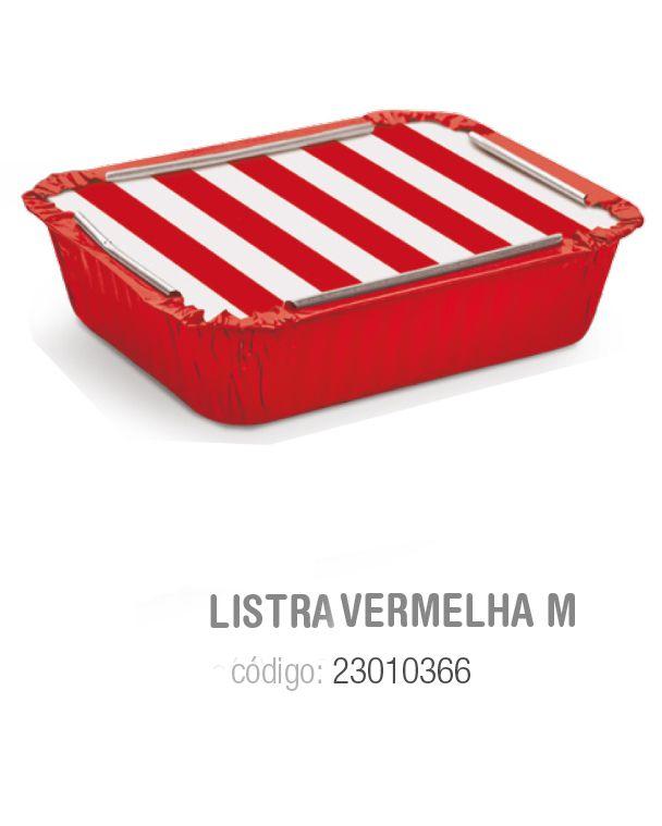 MARMITINHA LISTRAS VERMELHO M 8,5x6,5x2,5 PCT C/12 UNIDADES