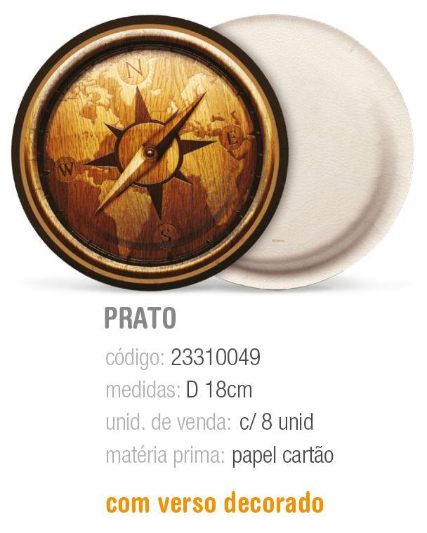 PRATO REDONDO SAFARI 18CM PCT C/8 UNIDADES