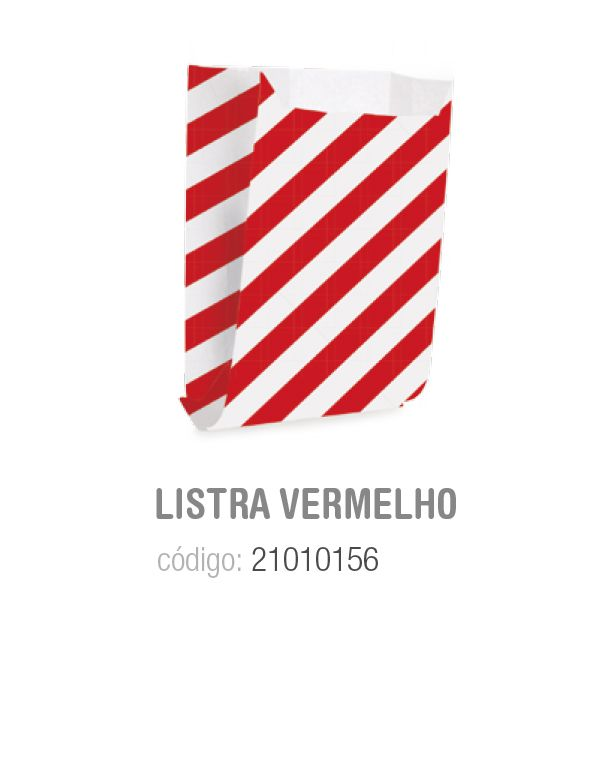 SAQUINHO P/LANCHE LISTRAS VERMELHO P 10x8x4 PCT C/12 UNIDADES