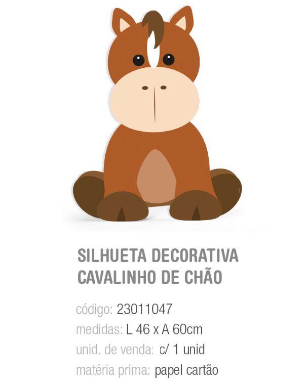 SILHUETA DECORATIVA DE CHAO FAZENDINHA CAVALINHO PCT C/1 UNIDADE