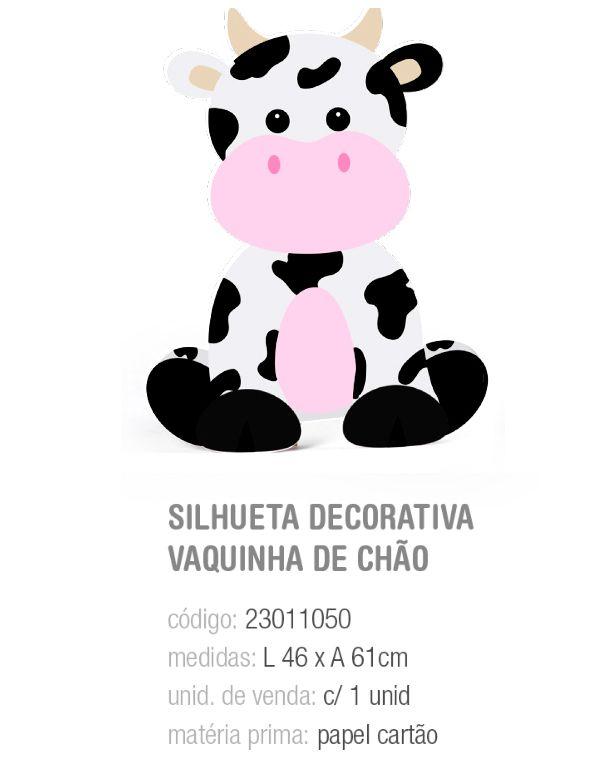 SILHUETA DECORATIVA DE CHAO FAZENDINHA VAQUINHA PCT C/1 UNIDADE