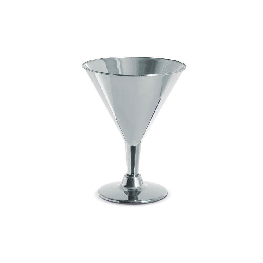 TACA DRINK PRATA 200ML PCT C/6 UNIDADES