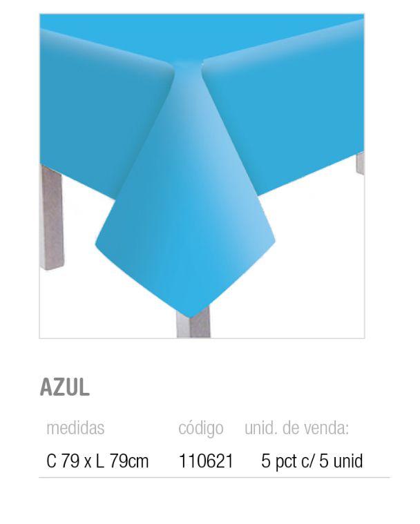 TOALHA DE MESA CONVIDADOS TEXT AZUL 79x79 PCT C/5 UNIDADES