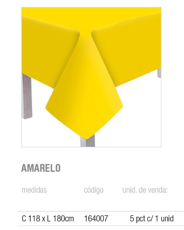 TOALHA DE MESA PRINCIPAL TEXT AMARELO 118x180 PCT C/1 UNIDADE
