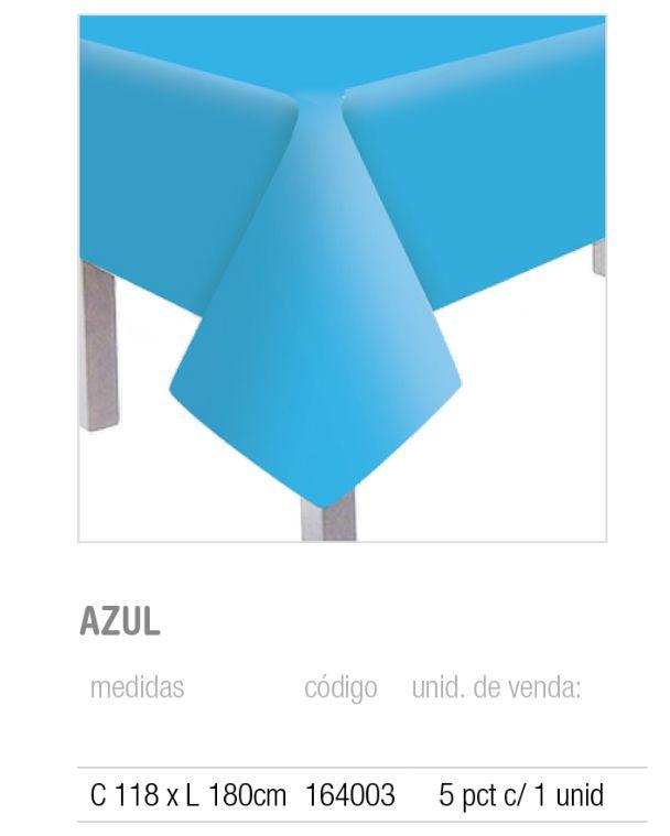 TOALHA DE MESA PRINCIPAL TEXT AZUL 118x180 PCT C/1 UNIDADE