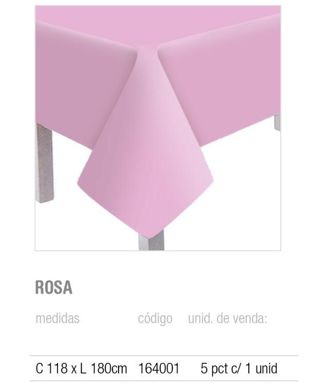 TOALHA DE MESA TEXT ROSA 118x180 PCT C/1 UNIDADE