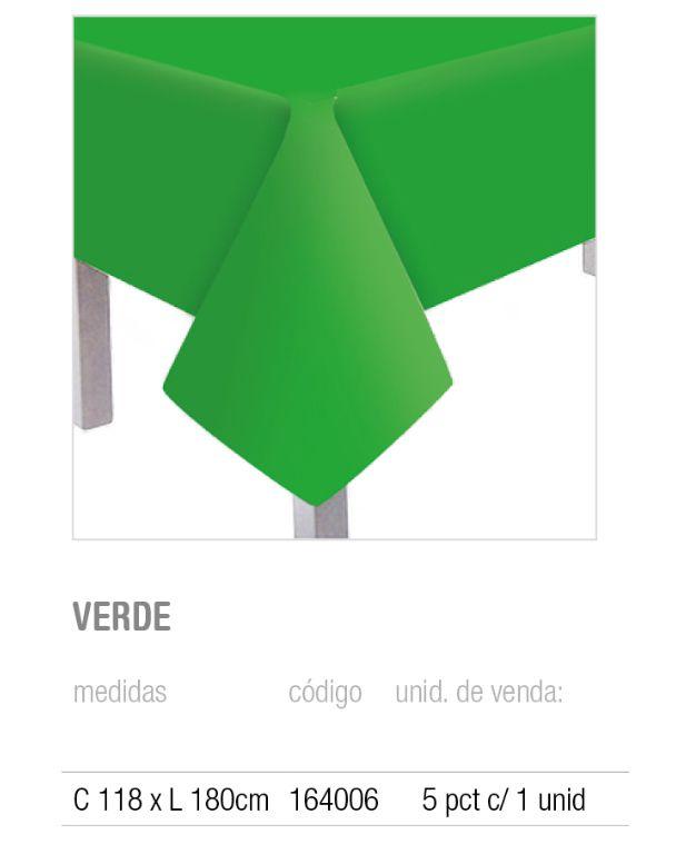 TOALHA DE MESA TEXT VERDE 118x180 PCT C/1 UNIDADE