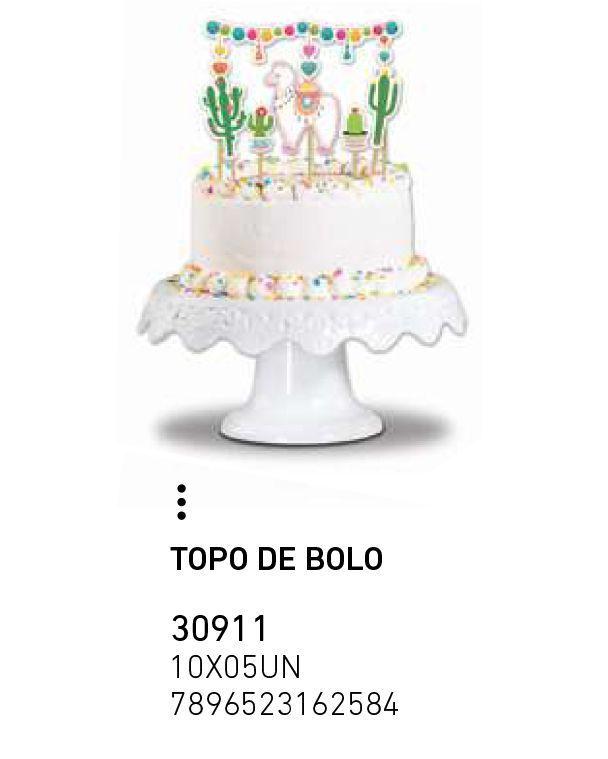 TOPO DE BOLO LHAMA PCT C/6 UNIDADES