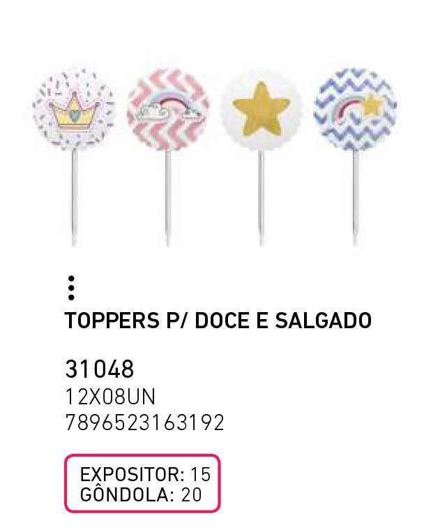 TOPPERS P/ DOCE E SALGADO UNICORNIO NOVO PCT C/8 UNIDADES