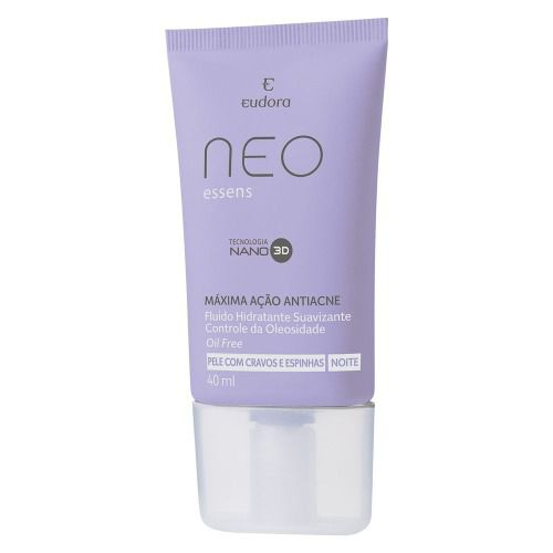 Neo Essens Noite Fluído Hidratante Suavizante Eudora 40ml