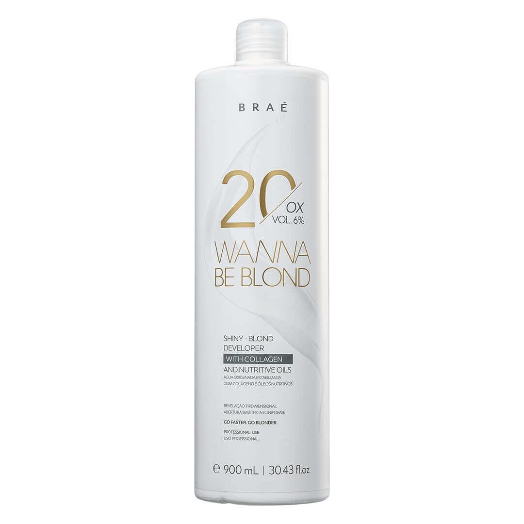 Água Oxigenada 20 Volumes 6% Wanna Be Blond Braé 900ml
