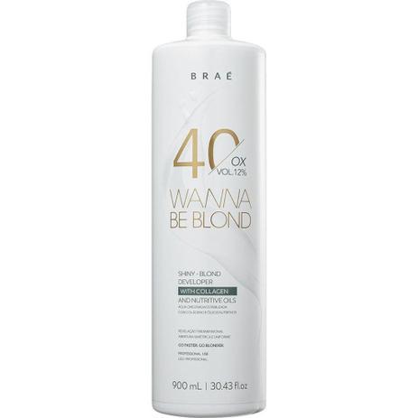 Água Oxigenada 40 Volumes 12% Wanna Be Blond Braé 900ml