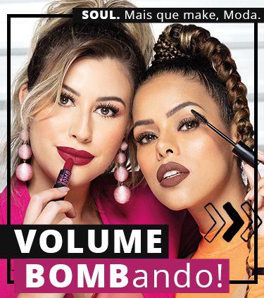 Batom Soul Kiss Me Bomb Efeito 3D Semimate 3,5g