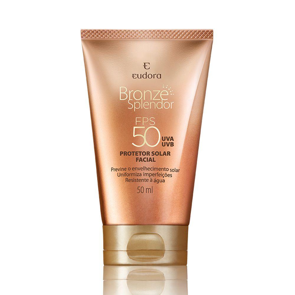 Bronze Splendor Protetor Solar Facial com Cor FPS 50, 50ml