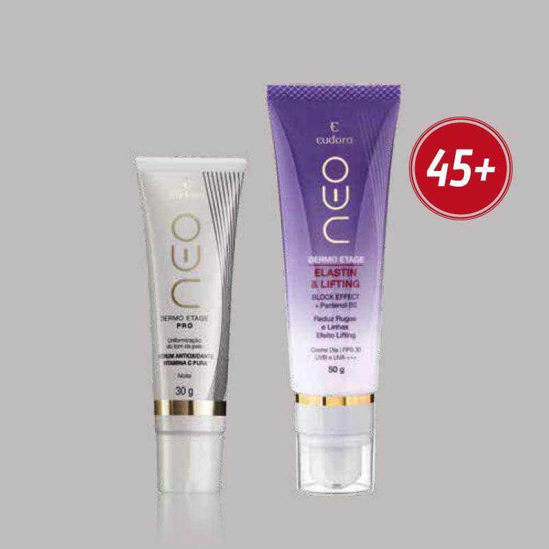 Combo 45+: Pró Sérum Antioxidante Vitamina C Pura + Elastin e Lifting Neo Dermo Etage