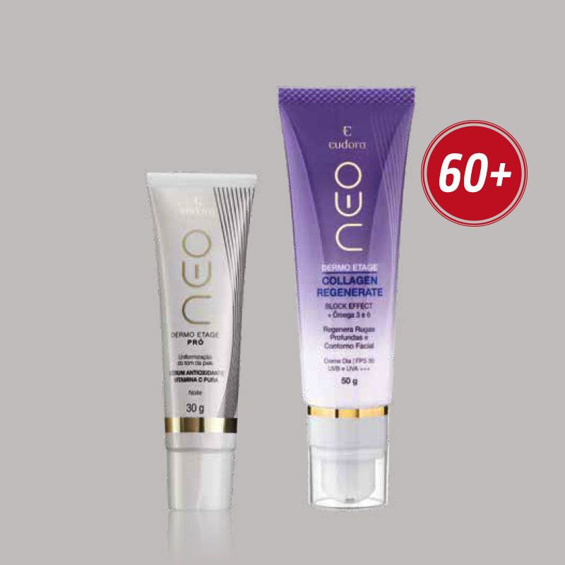 Combo 60+: Pró Sérum Antioxidante Vitamina C Pura + Collagen Regenerate Neo Dermo Etage