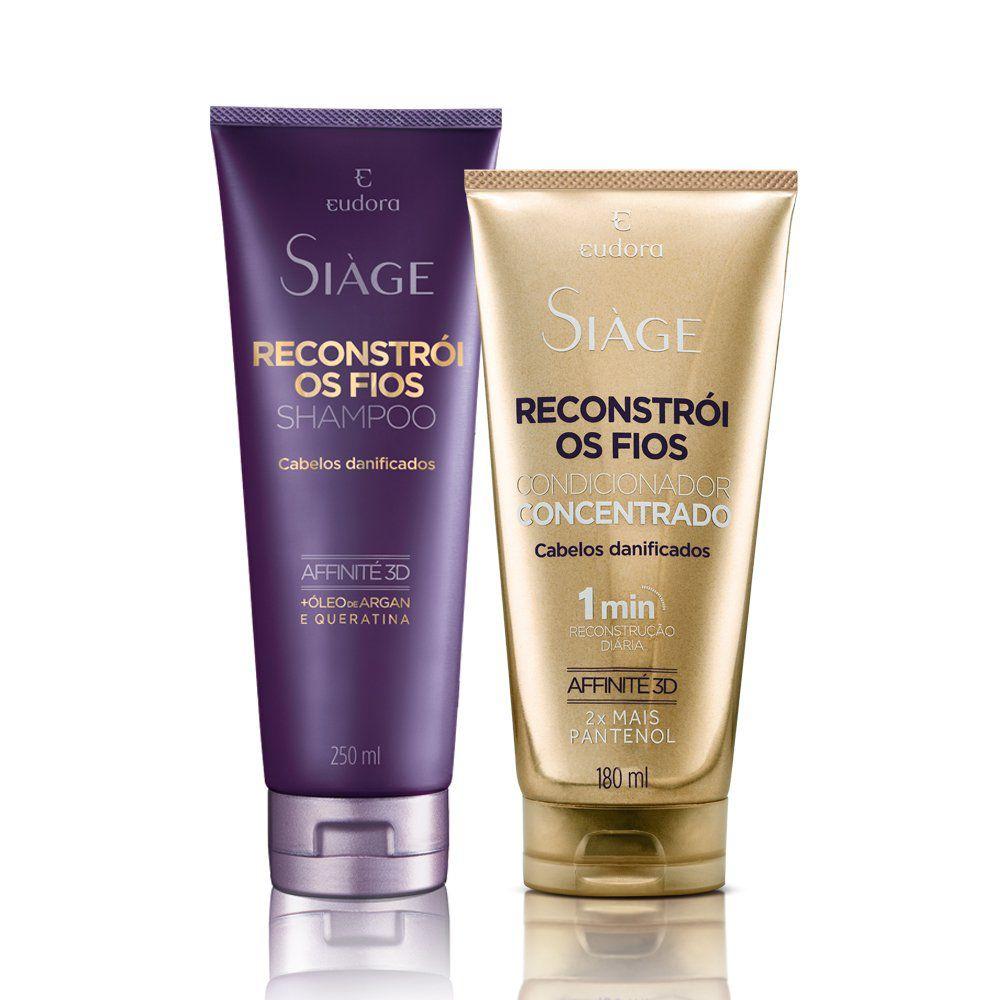 Kit Siàge Reconstrói os Fios: Shampoo + Condicionador Concentrado