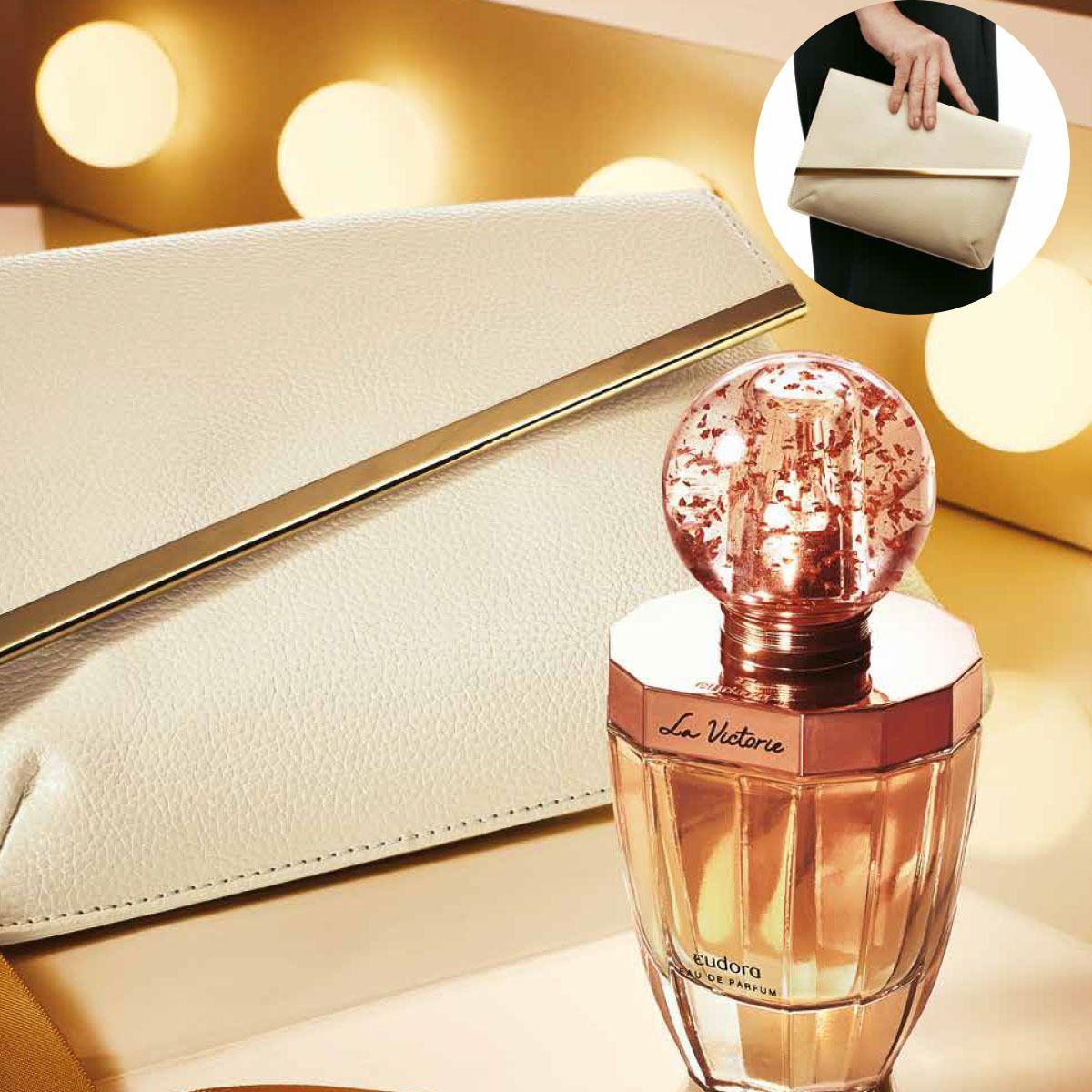 Estojo La Victorie: Eau de Parfum 75ml + Bolsa de Mão Clássica