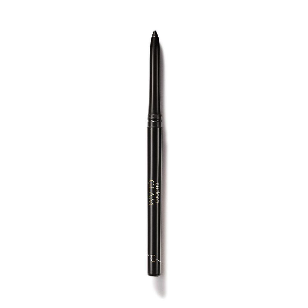 Glam Lápis Retrátil para Olhos Black Eudora 0,28g