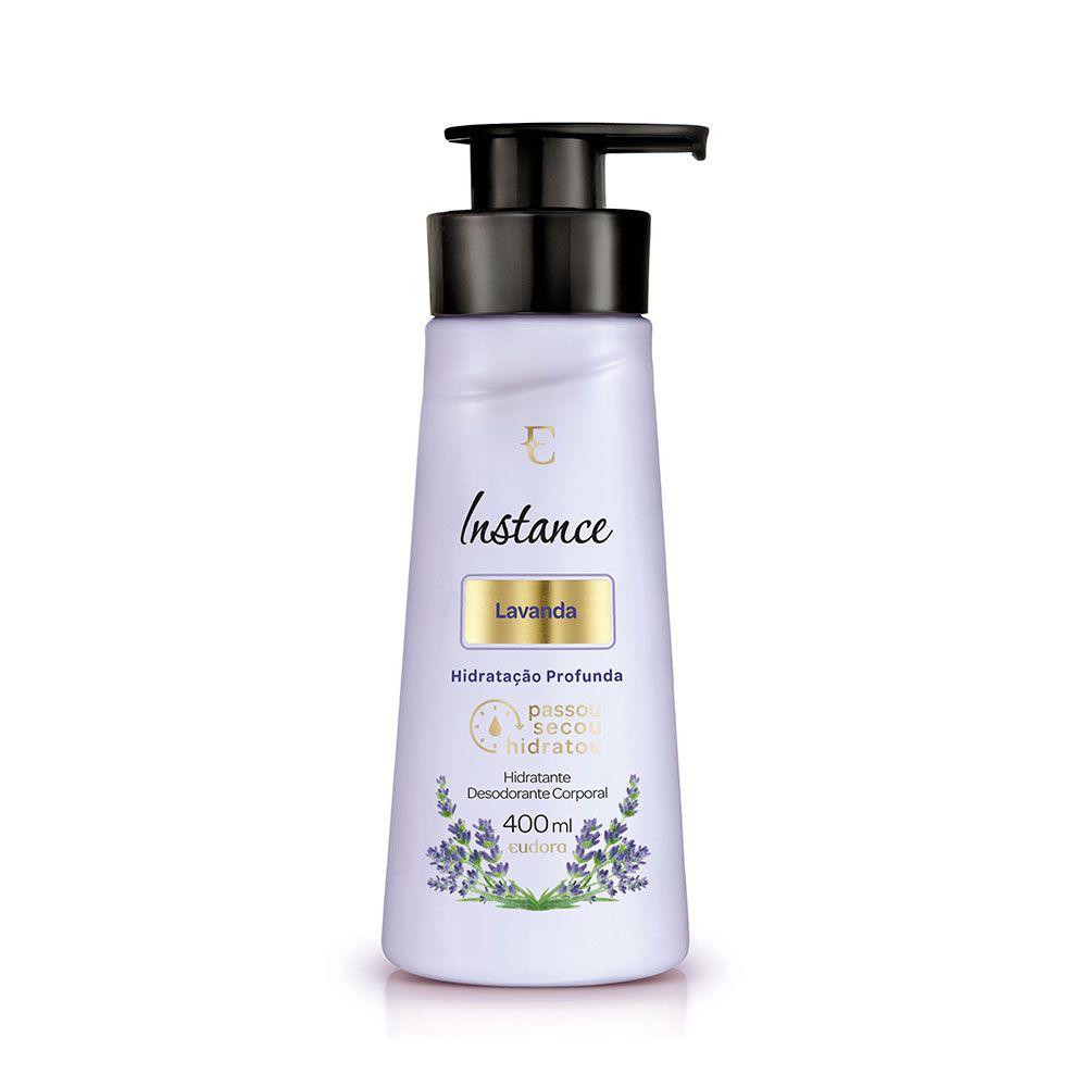 Hidratante Desodorante Corporal Lavanda Instance Eudora 400ml