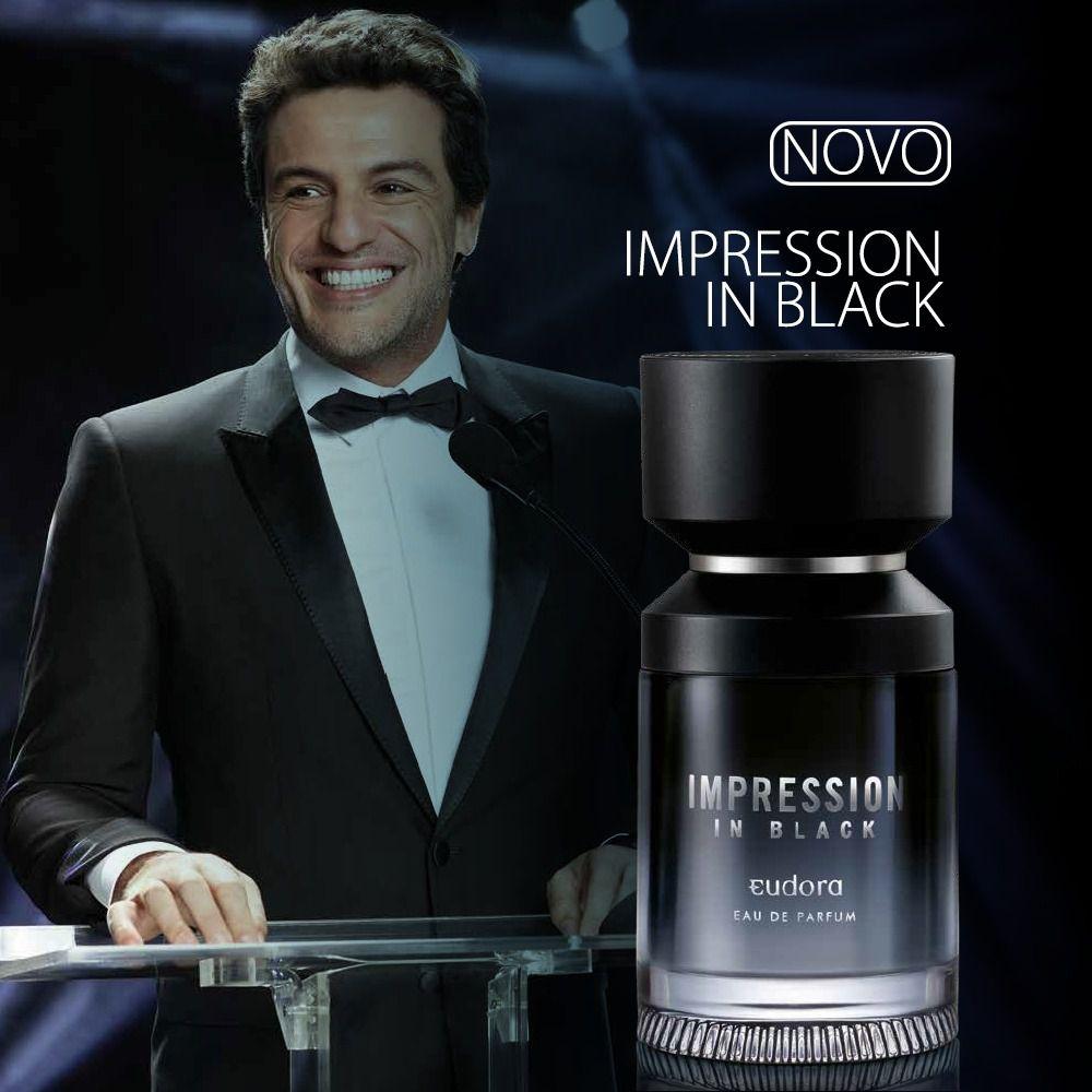 Impression In Black Eau de Parfum Eudora 100ml  - Shine Shop Perfumes e Cosméticos