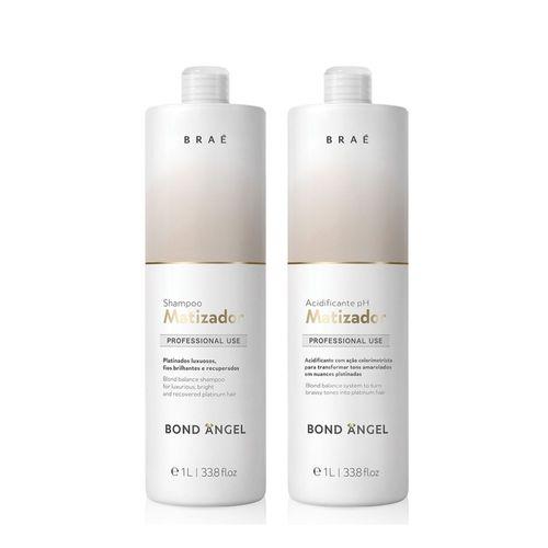 Kit Bond Angel Braé Shampoo Matizador E Acidificante Ph 2x1000ml