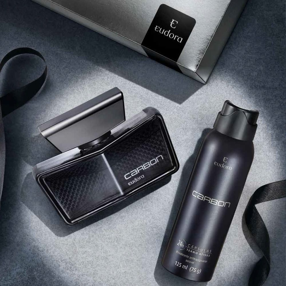 Kit Carbon Eudora: Deo Colônia + Desodorante