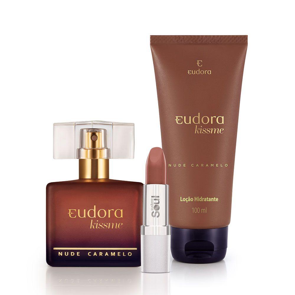 Kit Completo Kiss Me Nude Caramelo Eudora