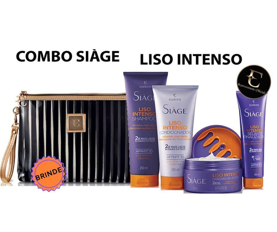 Kit Completo Siàge Liso Intenso + Necessaire Eudora