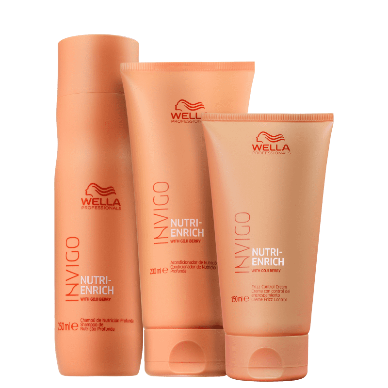 Kit Frizz Control Invigo Nutri-Enrich Wella Professionals (3 Produtos)