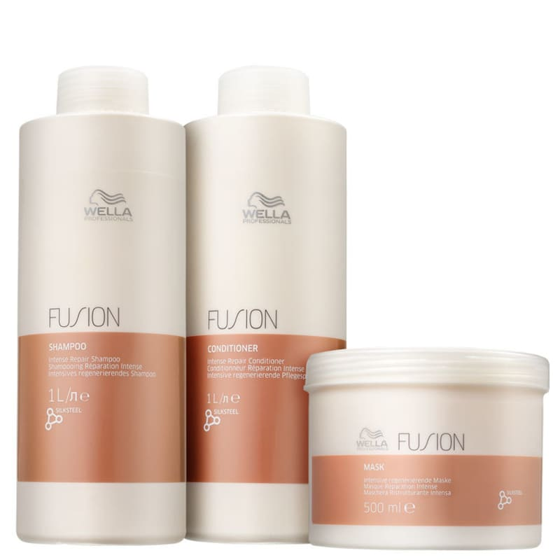 Kit Fusion Salon Trio Wella Professionals (3 Produtos)