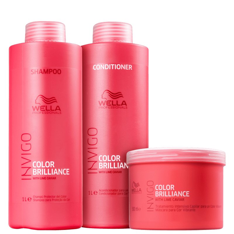 Kit Invigo Color Brilliance Wella Professionals Salão Trio (3 Produtos)