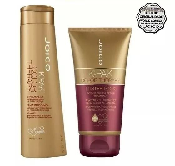 Kit Joico K-PAK Color Therapy: Shampoo + Máscara Luster Lock 140ml