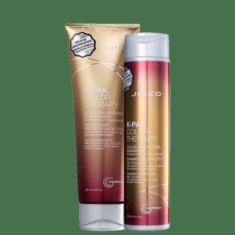 Kit Joico: Shampoo 300ml + Condicionador 250ml K-Pak Color Therapy + Máscara Moisture Recovery 250ml  - Shine Shop Perfumes e Cosméticos