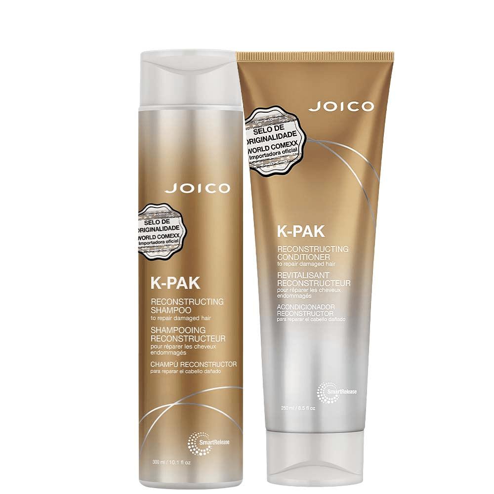 Kit Joico: Shampoo 300ml + Condicionador 250ml K-Pak To Repair Damage + Máscara Moisture Recovery 250ml  - Shine Shop Perfumes e Cosméticos