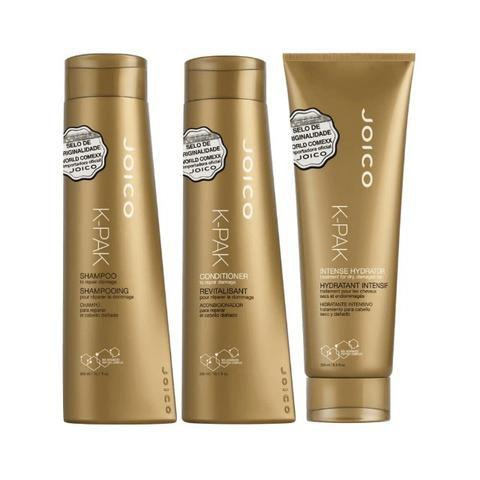 Kit K-pak Repair Damage Joico: Shampoo + Condicionador + Máscara Intense Hydrator  - Shine Shop Perfumes e Cosméticos
