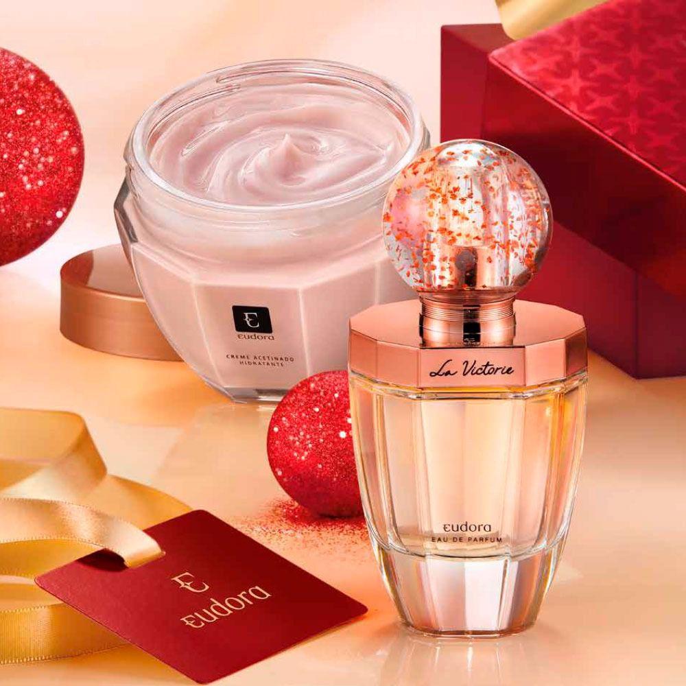 Kit La Victorie  Eau de Parfum 75ml + Creme Acetinado Hidratante Eudora