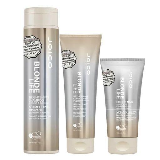Kit Máscara + Condicionador + Shampoo Blonde Life Brightening Joico