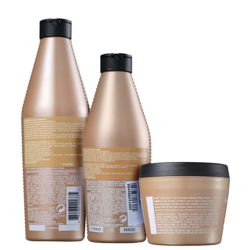 Kit Redken All Soft Shampoo 300ml + Condicionador 250ml + Heavy Cream 250g  - Shine Shop Perfumes e Cosméticos