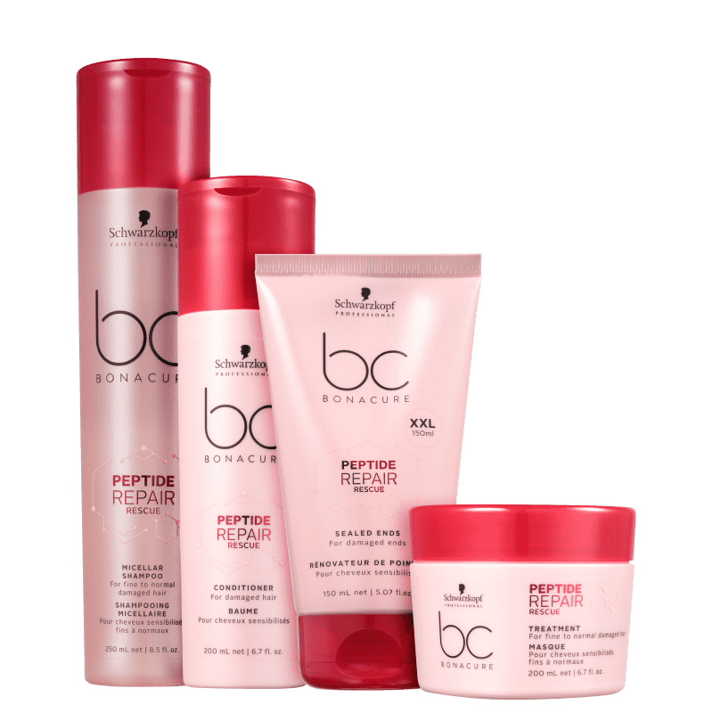 Kit Schwarzkopf Professional BC Bonacure Peptide Repair Rescue Ends (4 Produtos)