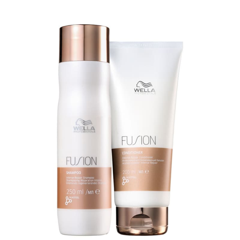 Kit Shampoo 250ml + Condicionador 200ml Fusion Wella Professionals