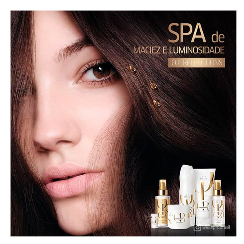 Kit Shampoo 250ml + Condicionador 200ml Oil Reflections Wella Professionals  - Shine Shop Perfumes e Cosméticos